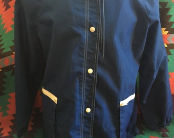 70s Weather Tamer Button Up Rain Jacket