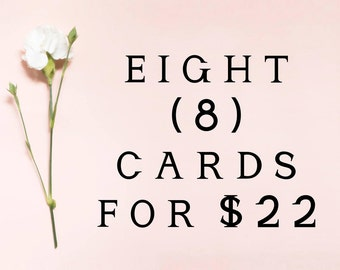 Pick 8 cards for 22 wedding cards, proposal cards, wedding day cards, mix and match cards for wedding