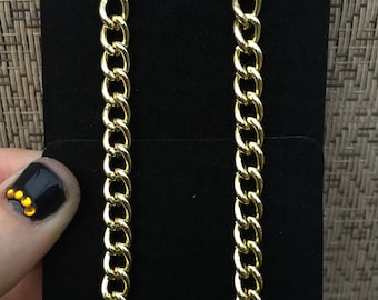 Single Gold Curb Chain Earrings