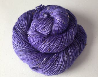 Blue Bell – Full Skein on Mutini Tweed – 438yds/100g – 85/15 SW Merino/NEP