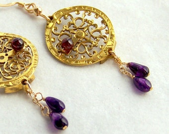 Steampunk Earrings, Verge Fusee Balance Plate SE109