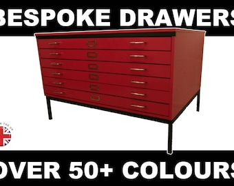 A0 Architects 6 Drawers - Over 50+ Colours Available -  Artist Drawers -  Plan Chest  - Map Chest
