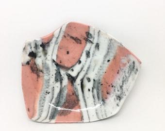 Coral Ink Blot Soap Dish