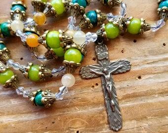 Lord of the Harvest, Jesus prayerbeads, jesus rosary, anglican rosary, anglican prayerbead, harvest prayerbeads, harvest rosary