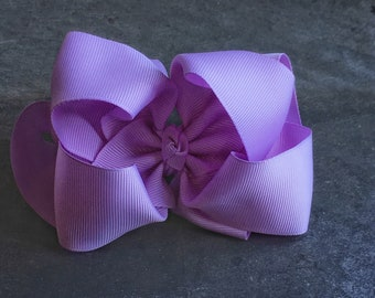 Lilac 6 Inch Double Stacked Bow