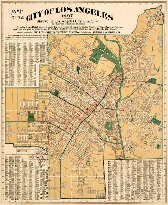 Vintage Los Angeles Map