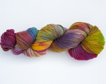 Wool Tricotcolor handdyedwool knitted crochet supply creative colors knit dye woven merino wool