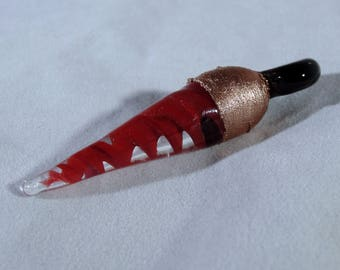 Red Glass Twist Pendant