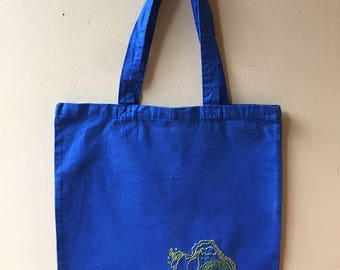 Wizard Island in Crater Lake National Park Tote Bag - Oregon - Embroidered Topographic Map