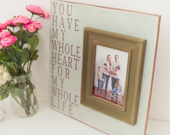 Wedding Picture Frame, Wedding Sign, Wedding Gift, Personalized Frame, Baby Frame