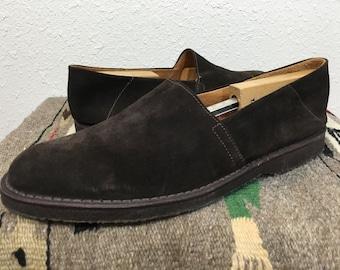 Ralph Lauren Monaco Suede Leather Shoes White