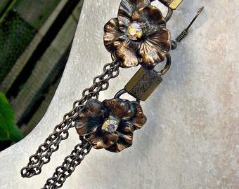 Bronze Petal Earrings