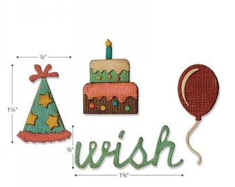 Mothers Day Special: Sizzix Sidekick Side-Order Set - Birthday by Tim Holtz 662703