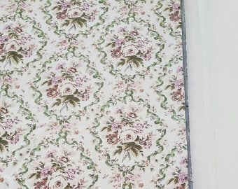 """Large lined floral curtains. Heavy floral cotton curtains. Pair of vintage floral curtains. 45 x 45""""."""