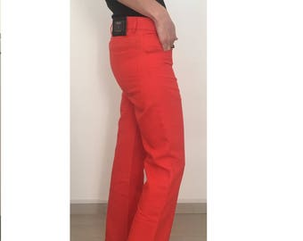 Mixed linen trousers made in Italy vintage-vintage made in Italy pants line-cotton