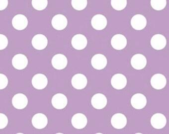CLOSEOUT SALE Lavendar Medium Dot by Riley Blake 1 Yard