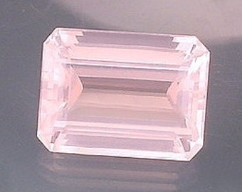 20x15 emerald cut madagascar rose quartz gemstone gem