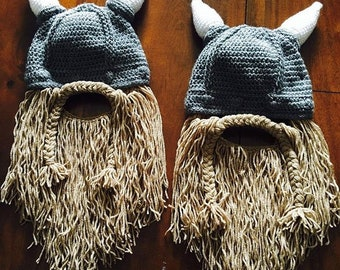 Viking Hat & Beard (all sizes)
