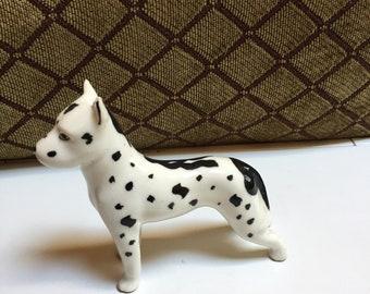 Small White Spotted Dog Fugurine