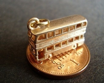 9ct 9k Gold Double Decker Bus Charm