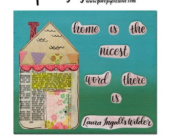 Home is the Nicest Word Mixed Media Digital Download