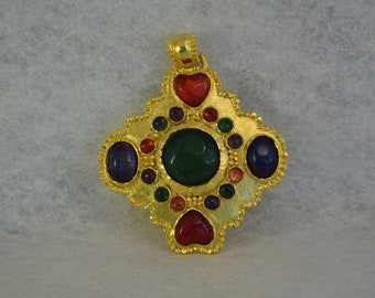 Large gold pendant by Emanuel Ungaro
