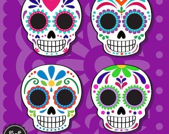 Day of the dead, Mexican, digital Kit, digital paper, instant Download, High resolution, Sugar Skull, Skull, Catrina, Dia de Muertos,