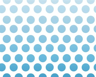 Cotton Fabric Polka Dots Ombre Fabric - Riley Blake Designs Ombre Fabric - Polka Dot Fabric - Cotton Fabric Quilt Fabric - Blue Aqua Fabric