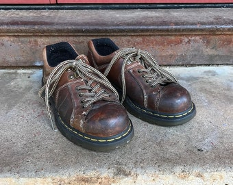 Vintage Dr. Marten Brown Sneakers | Doc Martens | Leather Sneakers | 6 UK | 7 US