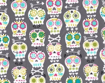 Bonehead in Gray by Michael Miller Fabrics 100% Quilters Cotton Available in Yards, Half Yards and Fat Quarters