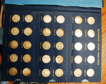Roosevelt Dimes- Collection 1946/1966  All Mint Marks--Silver-circulated/ungraded--Free SH