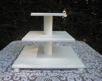 Cupcake Stand 3 Tier Cake Tower White