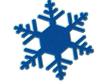 2 Colored SImple Snowflake Machine Embroidery Design - 3 sizes