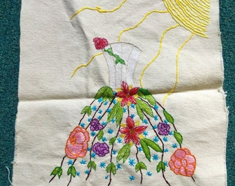 Floral Dress Embroidery