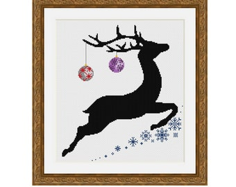 "Cross stitch pattern ""Deer"",Instant download PDF"
