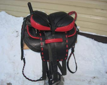 Trick Riding Horse Saddle in a color design