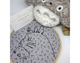 "6"" Totoro Embroidered Hoop"