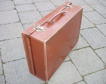 Vintage/Authentic Brown Small Suitcase