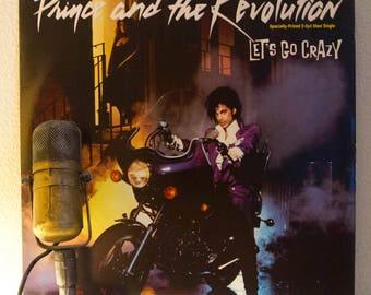 "Prince & The Revolution 12"" Vinyl 2-Song Maxi-Single Collectable 1980s Minneapolis Pop Rock Dance ""Let's Go Crazy/Erotic City"" (1984 Wb)"