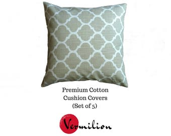 Cotton Cushion Covers (Set of 5) 16x16