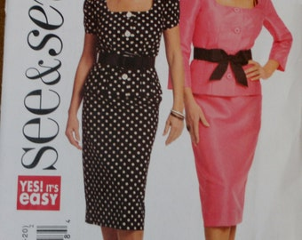 Butterick 5169 Misses Top and Skirt Sewing Pattern Uncut Size 14-16-18-20