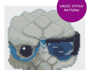 Mass Effect Garrus cross stitch pattern