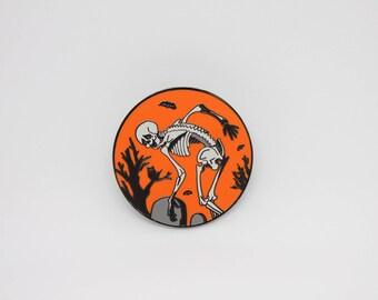 Dancing Skeleton Enamel Pin