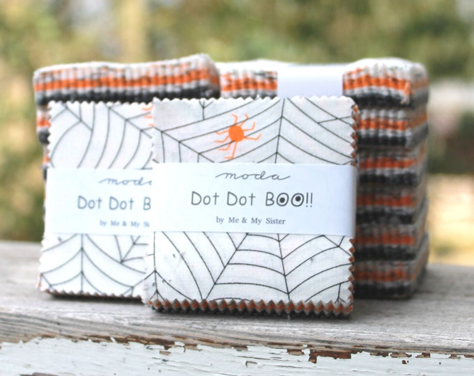 "Dot Dot Boo by Me and My Sister for Moda Mini Charm Pack 2.5"" Squares"