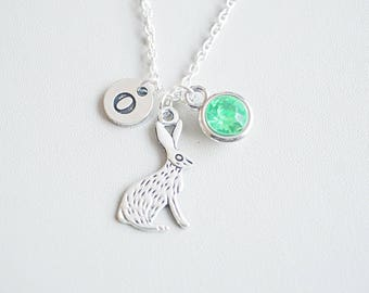 Rabbit Necklace,  Rabbit Gift, Rabbit Charm Jewelry, Bunny Necklace, Hare Necklace, Hare Jewelry, Gift for her, Rabbit, Bunny, Farm, Animal