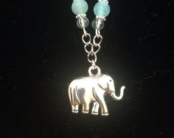 Blue elephant bracelet