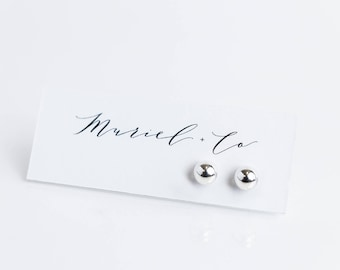 Medium Sterling Silver Ball Earrings