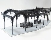 Architectural Model Kit of Seattle Washington Pergola, Laser Cut Model Kit, DIY Product, Pioneer Square Pergola, Unique Gift