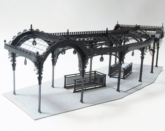 Architectural Model Kit of Seattle Washington Pergola, Laser Cut Model Kit, DIY Product, Pioneer Square Pergola, Unique Gift
