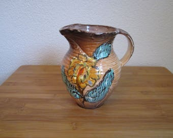 Jug can vase ceramics gebr. Hacker by MOSA Maastricht Geha Rotterdam Dutch Earthenware